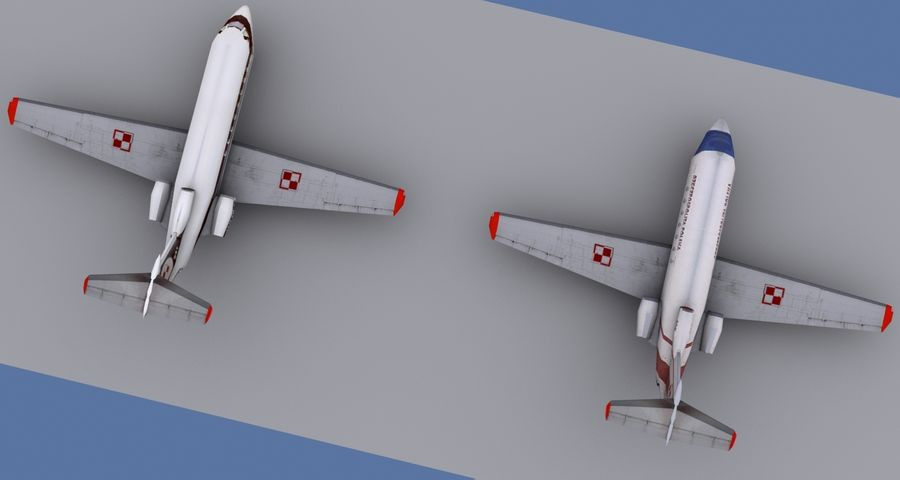 Yakovlev Yak-40 - 3 Liveries royalty-free 3d model - Preview no. 5