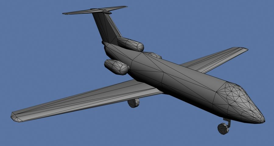 Yakovlev Yak-40 - 3 Liveries royalty-free 3d model - Preview no. 6