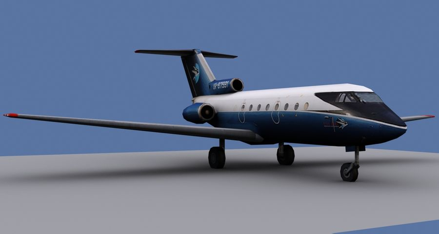 Yakovlev Yak-40 - 3 Liveries royalty-free 3d model - Preview no. 4