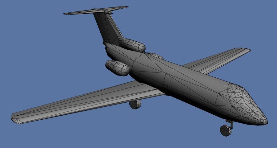 Jakowlew Jak-40 - 3 Wątroby royalty-free 3d model - Preview no. 6