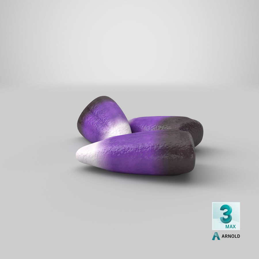 Blackberry Candy Corn royalty-free modelo 3d - Preview no. 29
