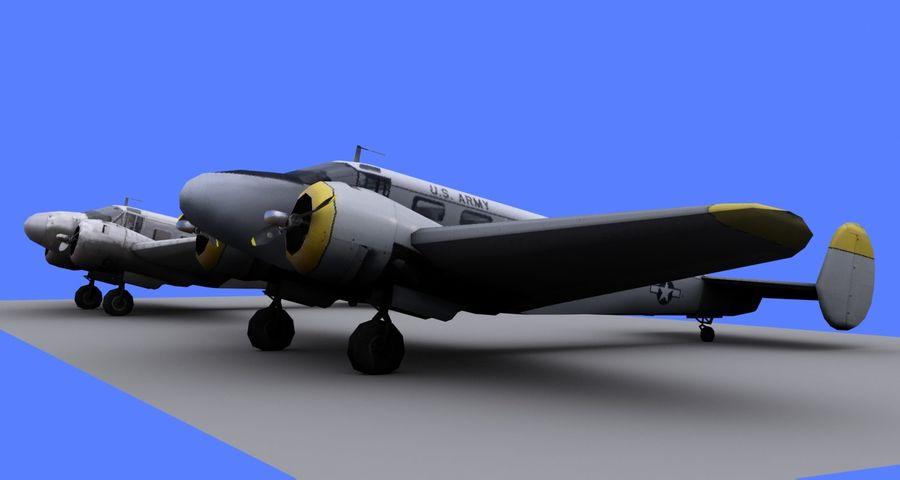 Beechcraft Model 18 - 2 wątróbki royalty-free 3d model - Preview no. 2