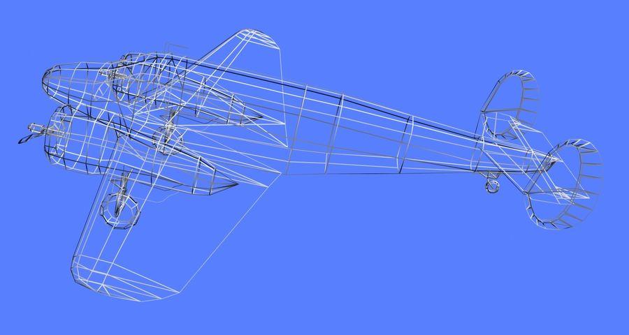 Beechcraft Model 18 - 2 wątróbki royalty-free 3d model - Preview no. 7