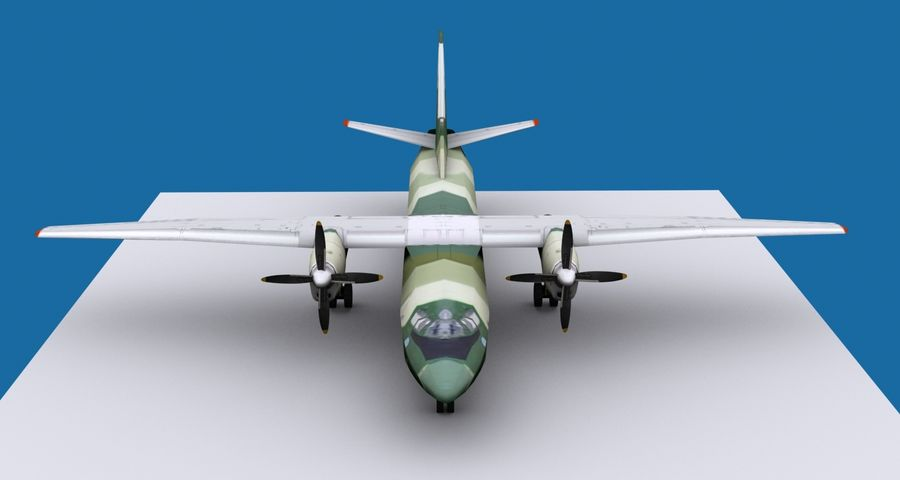 Antonov An-26 - 1 Livery royalty-free 3d model - Preview no. 3