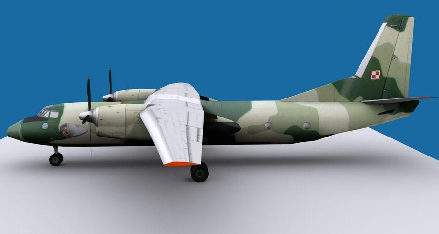 Antonov An-26 - 1 Livery royalty-free 3d model - Preview no. 2