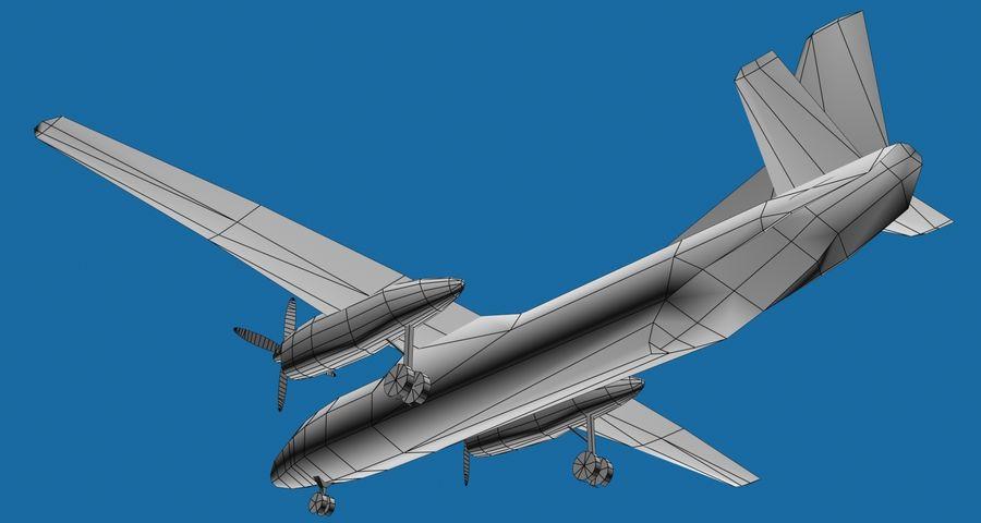 Antonov An-26 - 1 Livery royalty-free 3d model - Preview no. 6