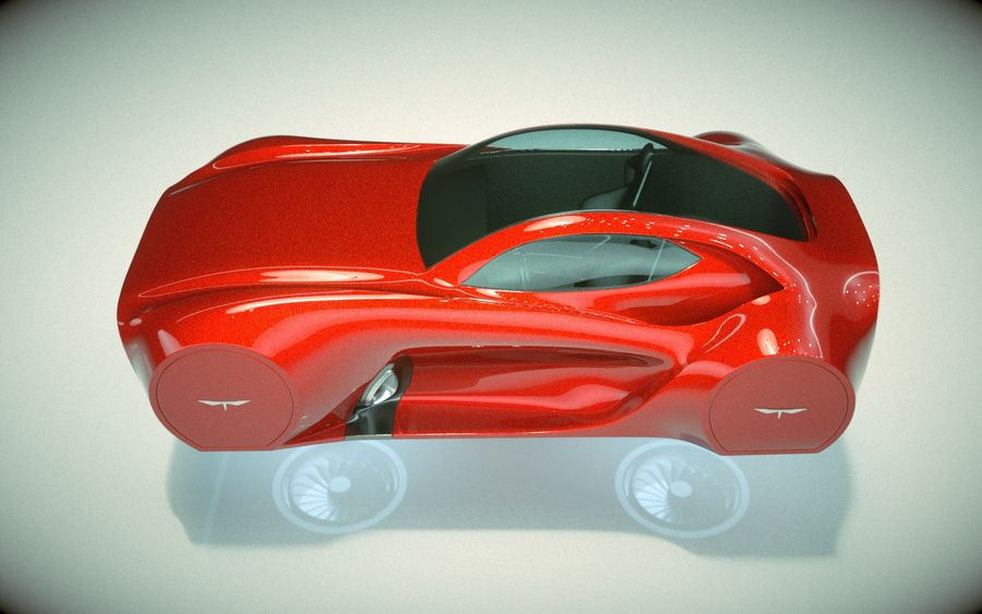 \\ T // Hover Car 37 royalty-free 3d model - Preview no. 5