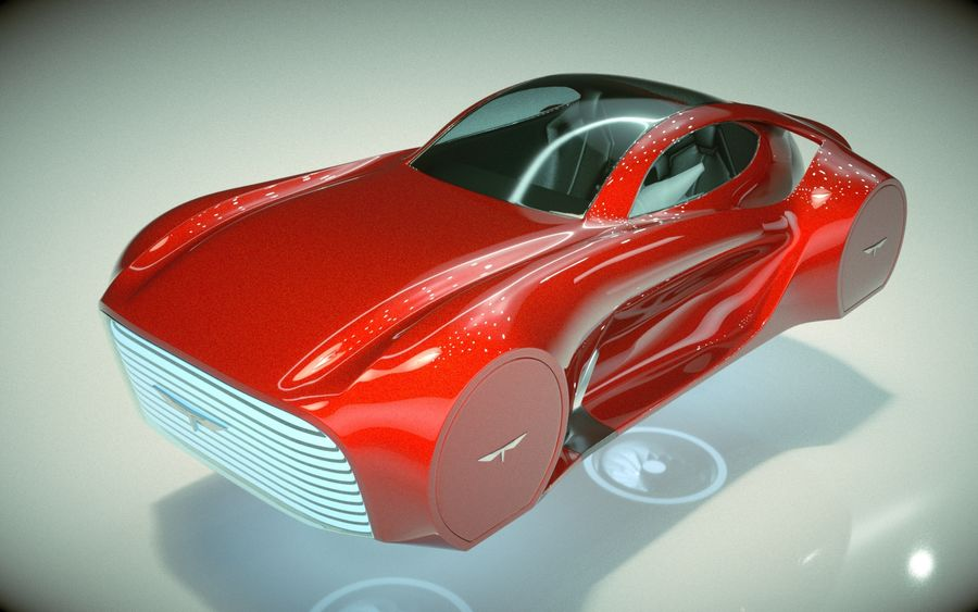 \\ T // Hover Car 37 royalty-free 3d model - Preview no. 1