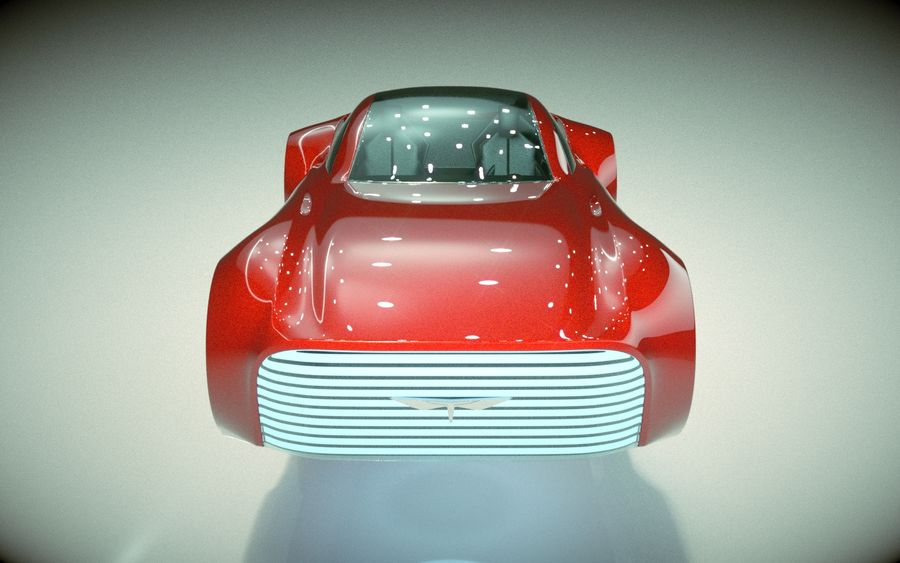\\ T // Hover Car 37 royalty-free 3d model - Preview no. 3