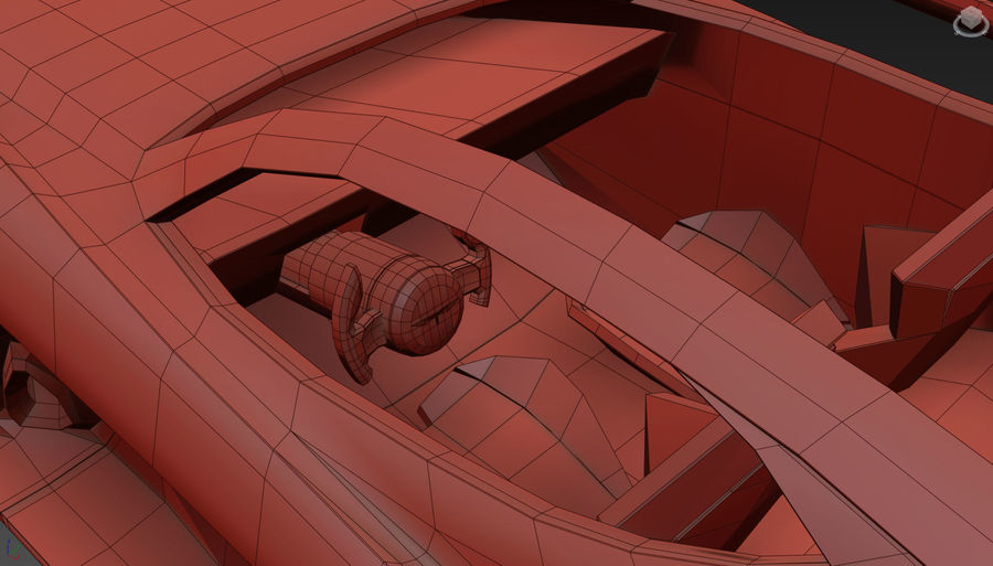 \\ T // Hover Car 37 royalty-free 3d model - Preview no. 25
