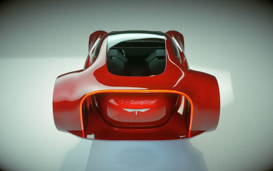 \\ T // Hover Car 37 royalty-free 3d model - Preview no. 9