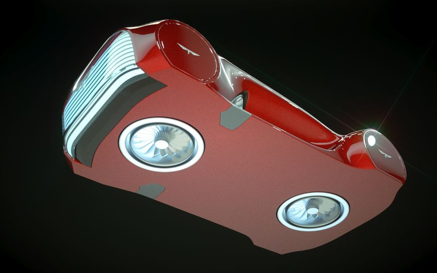 \\ T // Hover Car 37 royalty-free 3d model - Preview no. 12