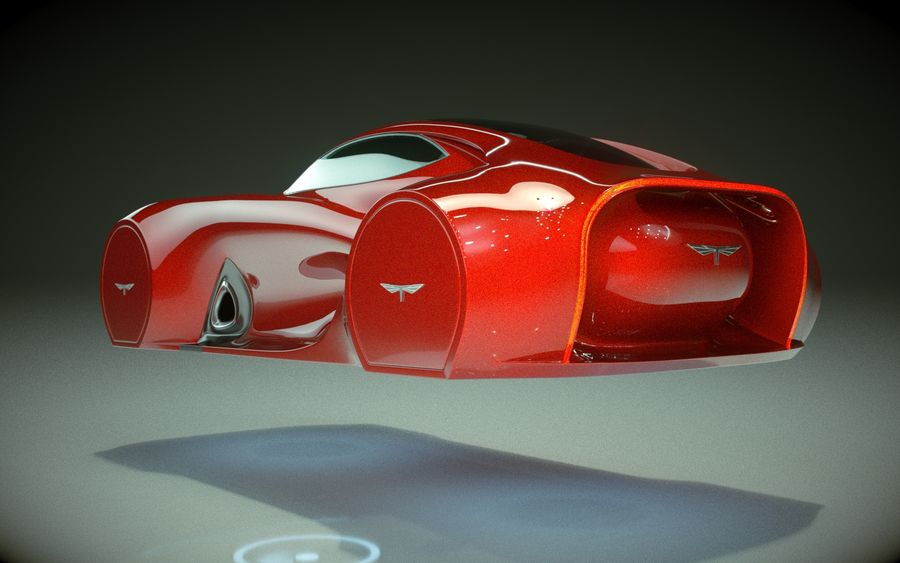 \\ T // Hover Car 37 royalty-free 3d model - Preview no. 6