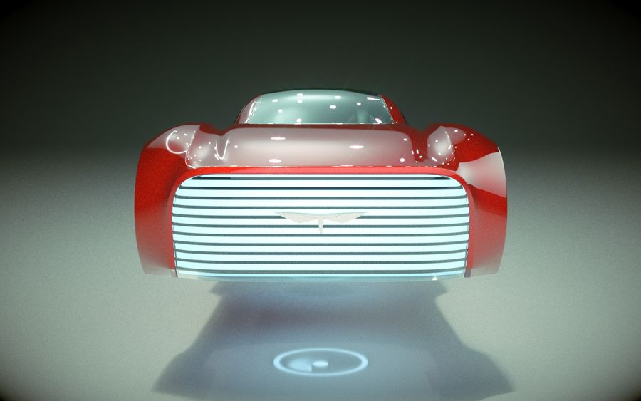\\ T // Hover Car 37 royalty-free 3d model - Preview no. 2