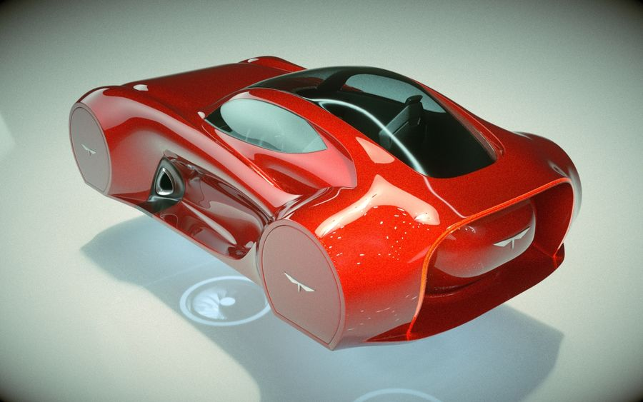 \\ T // Hover Car 37 royalty-free 3d model - Preview no. 7
