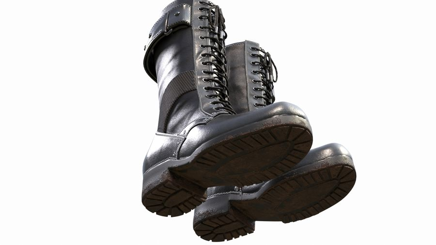 Military Boots royalty-free 3d model - Preview no. 8