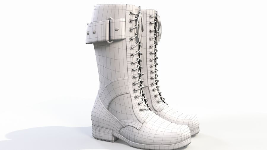 Military Boots royalty-free 3d model - Preview no. 10