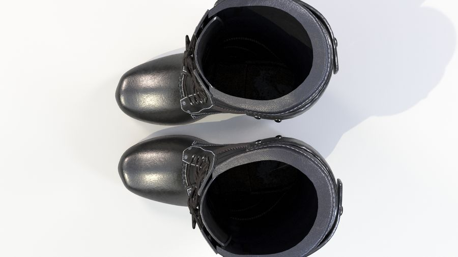 Military Boots royalty-free 3d model - Preview no. 7