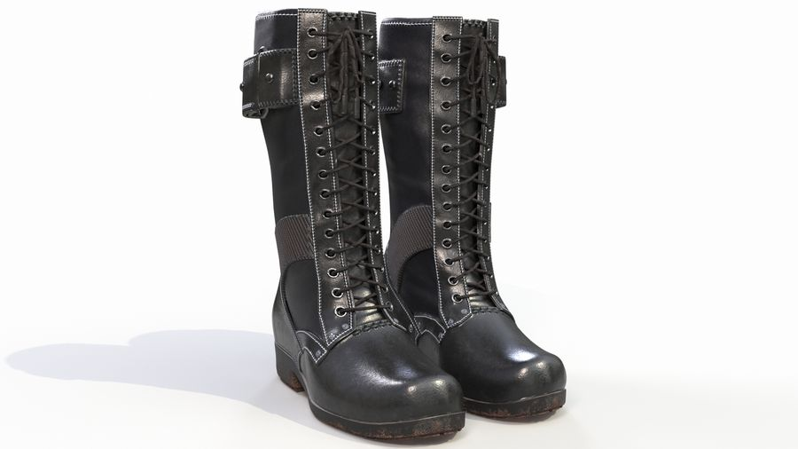 Military Boots royalty-free 3d model - Preview no. 2
