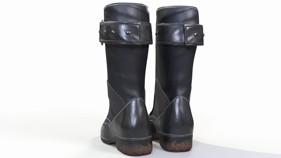 Military Boots royalty-free 3d model - Preview no. 6