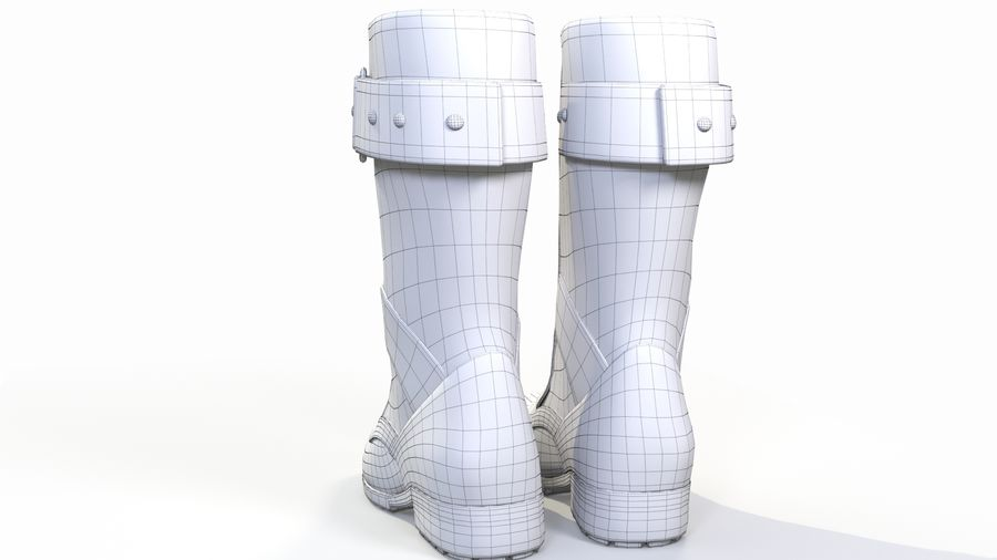Military Boots royalty-free 3d model - Preview no. 11