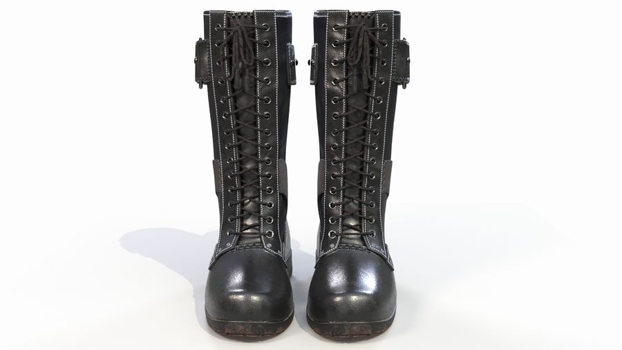 Military Boots royalty-free 3d model - Preview no. 3
