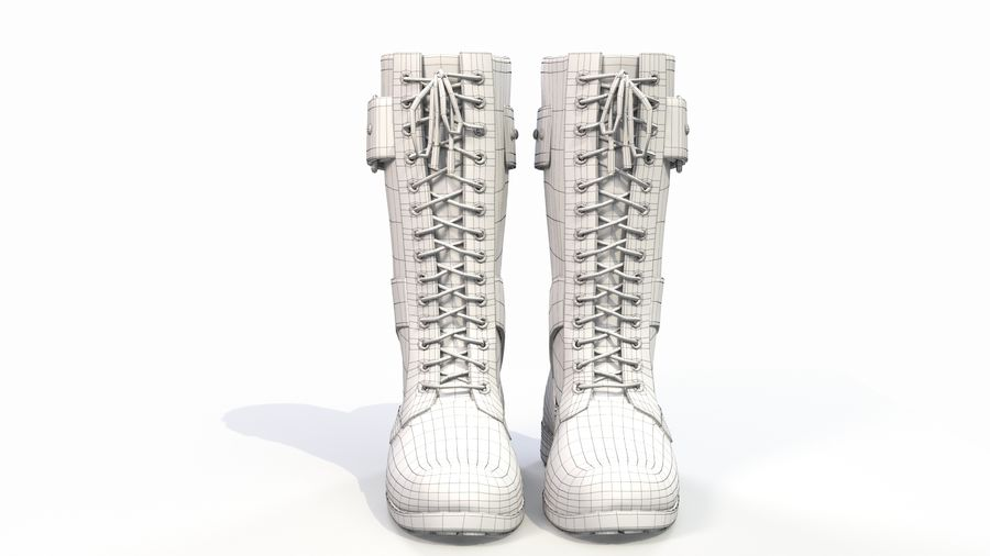 Military Boots royalty-free 3d model - Preview no. 9
