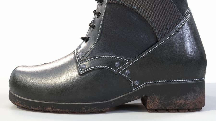 Military Boots royalty-free 3d model - Preview no. 4