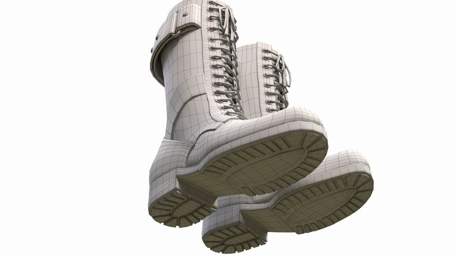 Military Boots royalty-free 3d model - Preview no. 12