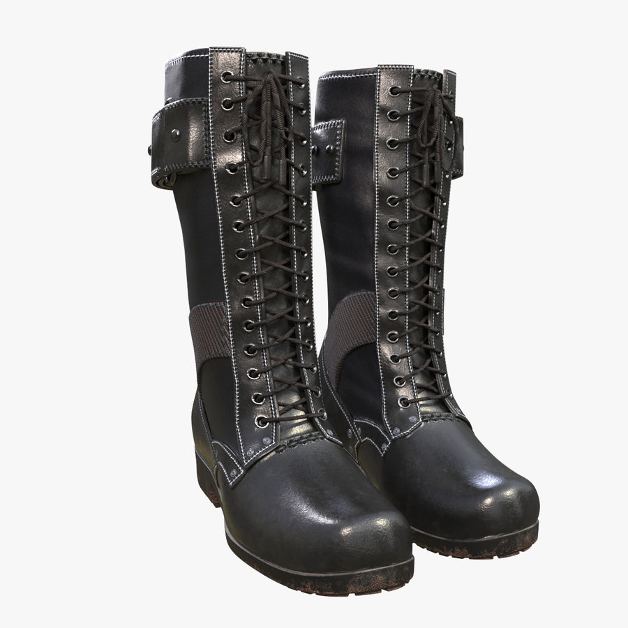 Military Boots royalty-free 3d model - Preview no. 1