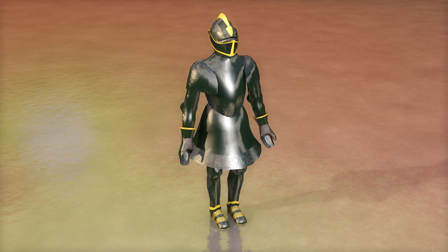 Medieval Knight Armor royalty-free 3d model - Preview no. 3
