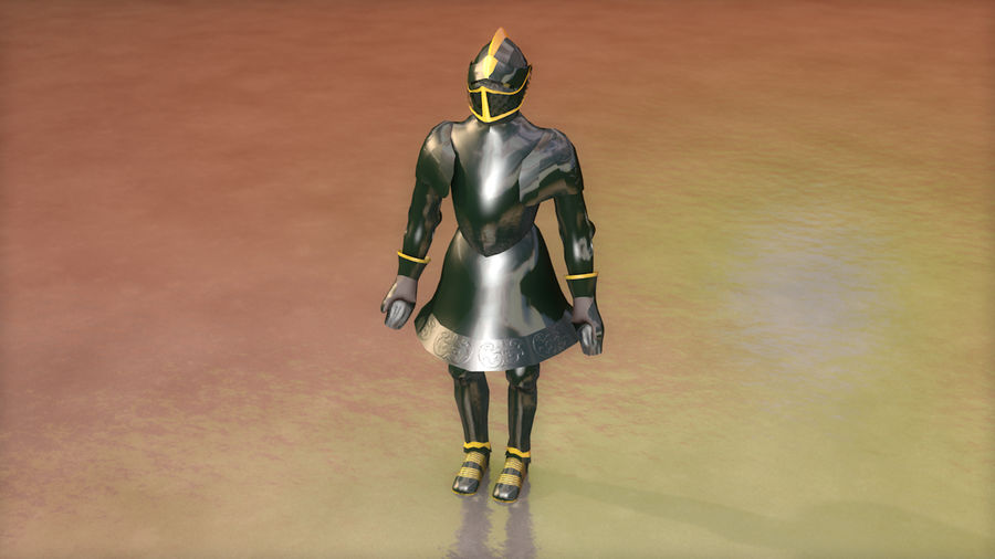 Medieval Knight Armor royalty-free 3d model - Preview no. 5