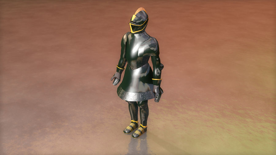 Medieval Knight Armor royalty-free 3d model - Preview no. 6