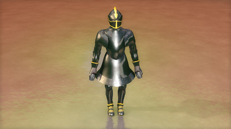 Medieval Knight Armor royalty-free 3d model - Preview no. 4