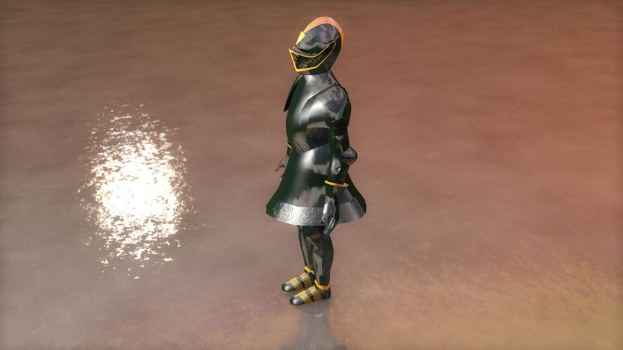 Medieval Knight Armor royalty-free 3d model - Preview no. 7