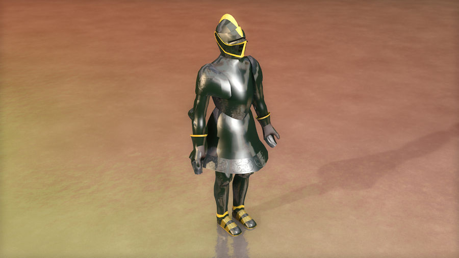 Medieval Knight Armor royalty-free 3d model - Preview no. 2