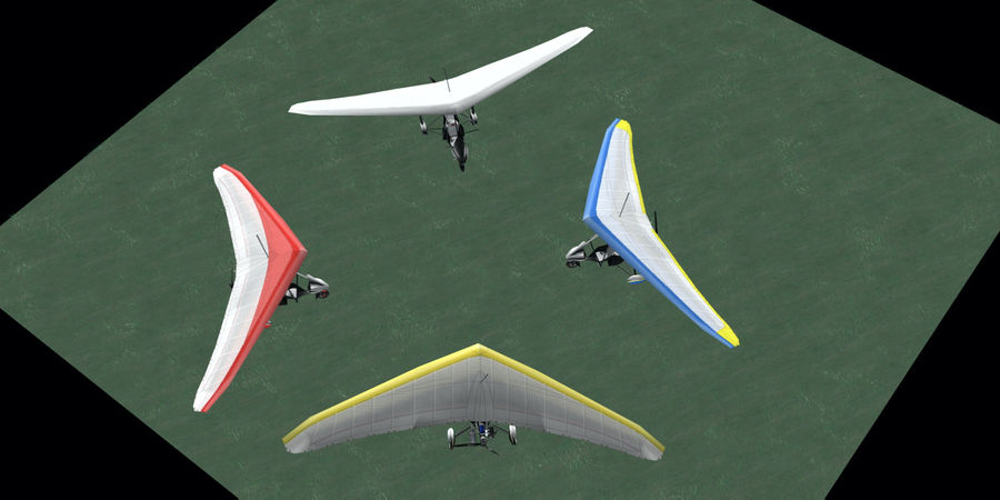 Air Creation Ultralight Trike royalty-free 3d model - Preview no. 5