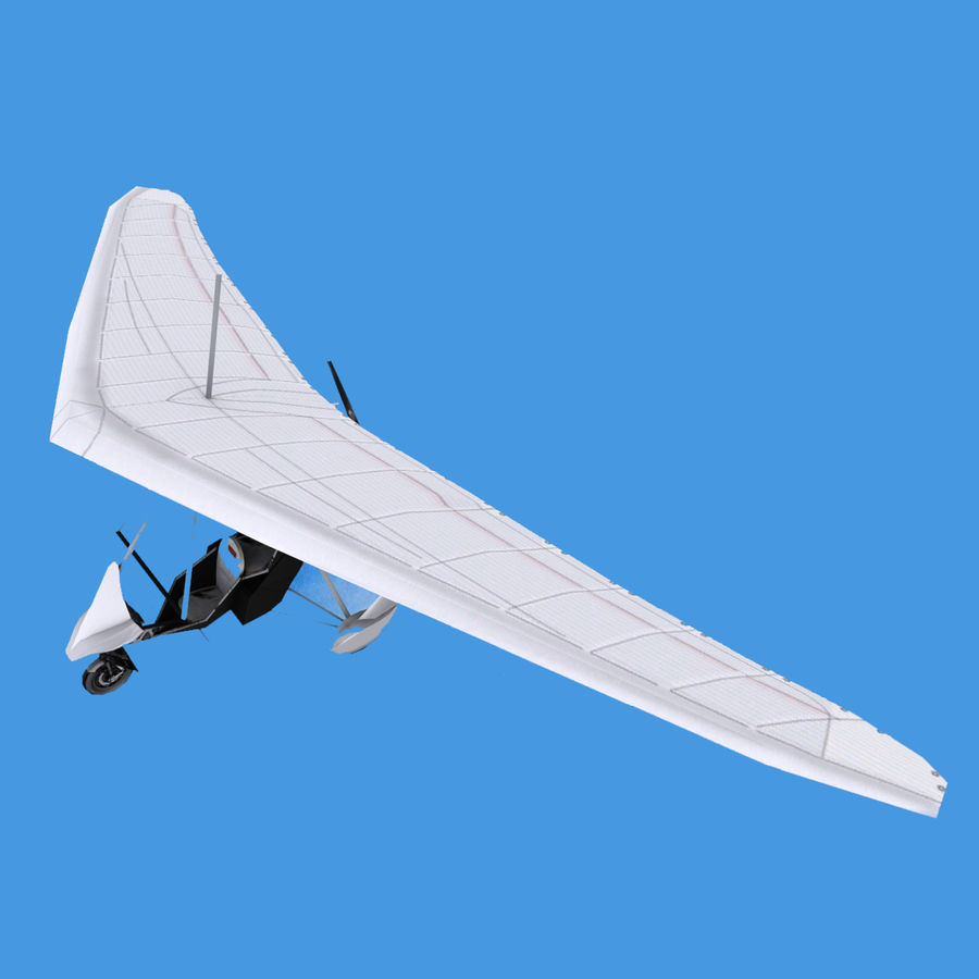 Air Creation Ultralight Trike royalty-free 3d model - Preview no. 1