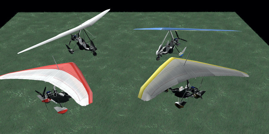 Air Creation Ultralight Trike royalty-free 3d model - Preview no. 3