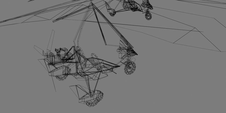Air Creation Ultralight Trike royalty-free 3d model - Preview no. 7