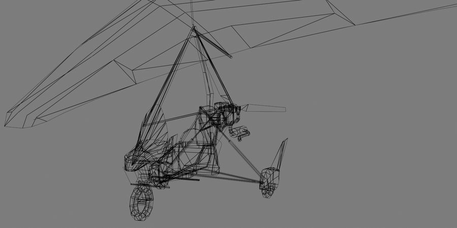 Air Creation Ultralight Trike royalty-free 3d model - Preview no. 9