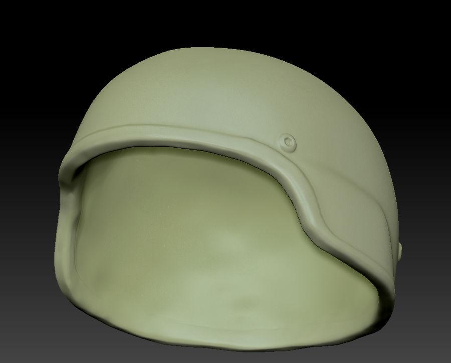 Military Khaki helmet 05 royalty-free 3d model - Preview no. 11