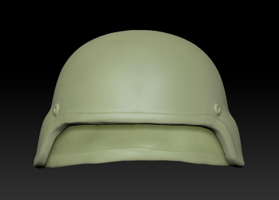 Military Khaki helmet 05 royalty-free 3d model - Preview no. 10
