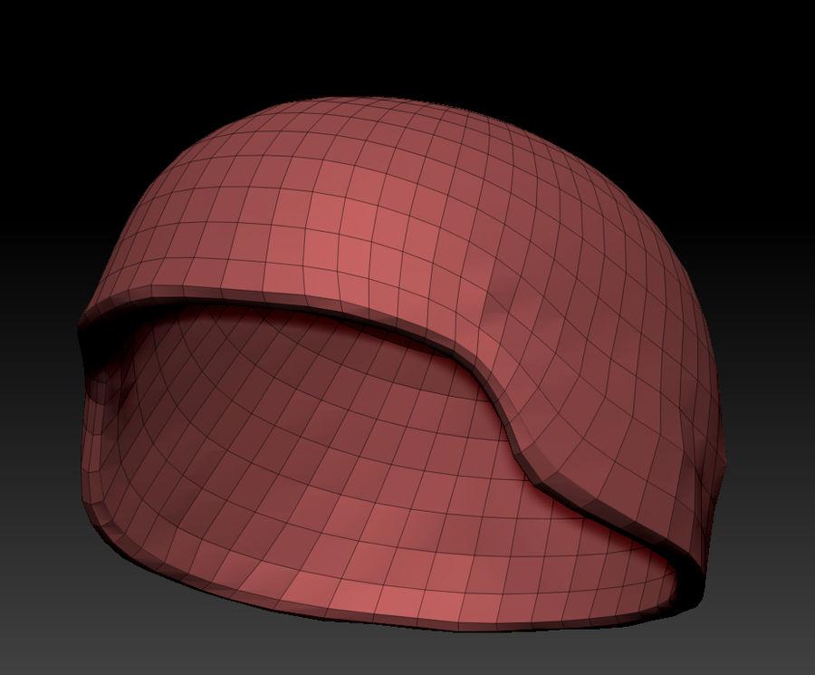 Military Khaki helmet 05 royalty-free 3d model - Preview no. 12