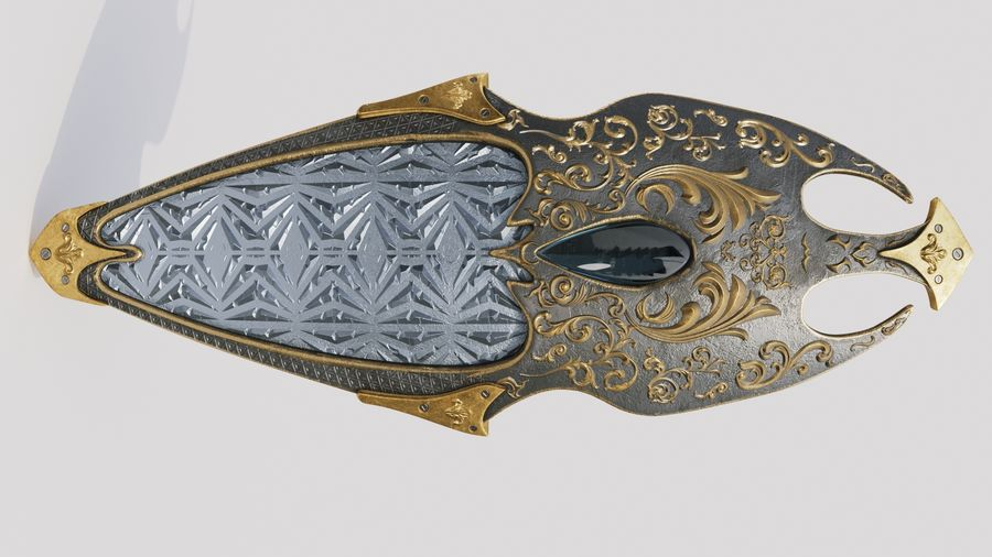 Fantasy Shield royalty-free 3d model - Preview no. 6