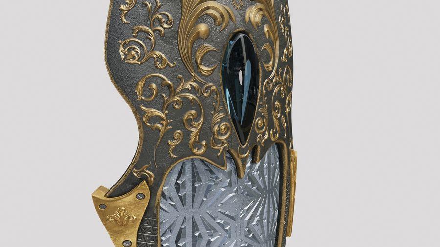 Fantasy Shield royalty-free 3d model - Preview no. 7