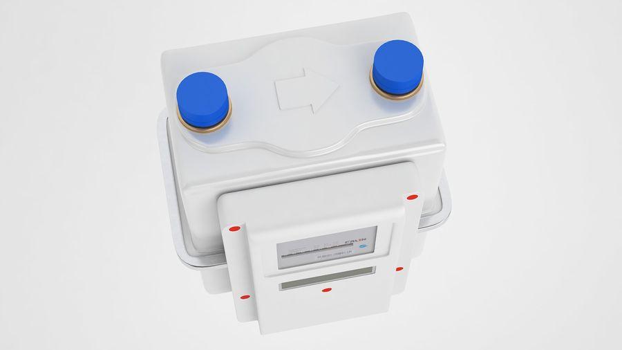 Licznik przedpłaty za gaz 04 royalty-free 3d model - Preview no. 7