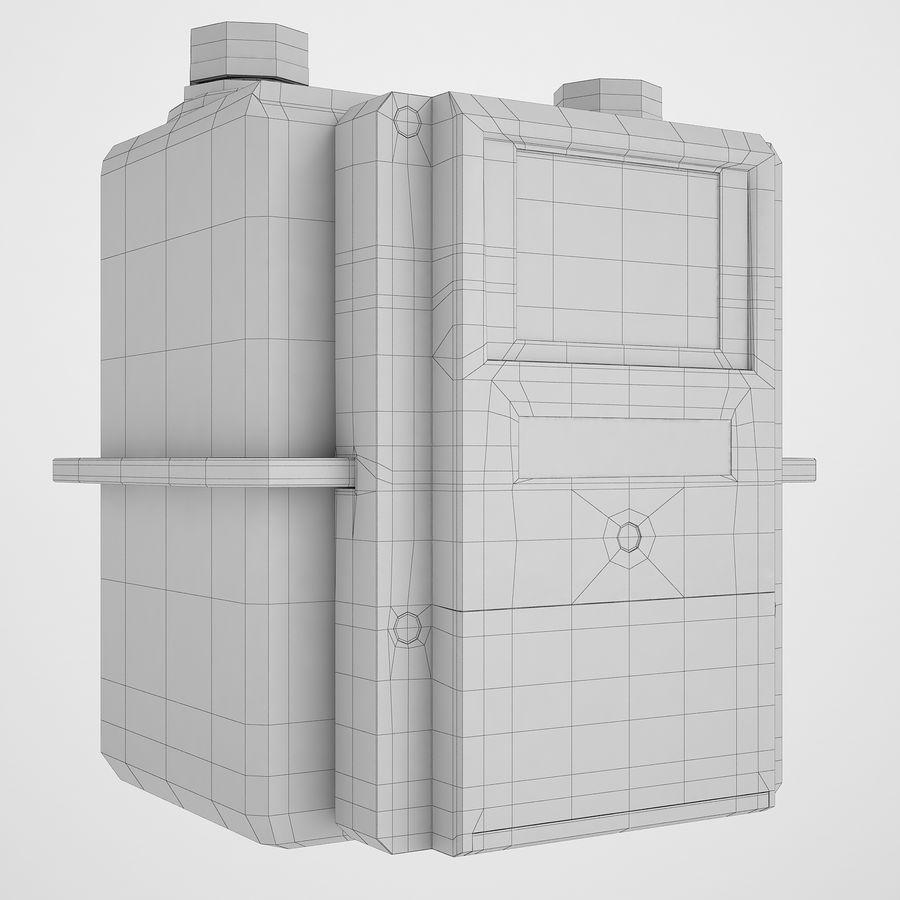 Licznik przedpłaty za gaz 04 royalty-free 3d model - Preview no. 4