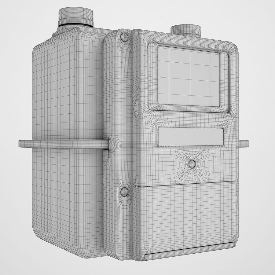 Licznik przedpłaty za gaz 04 royalty-free 3d model - Preview no. 3