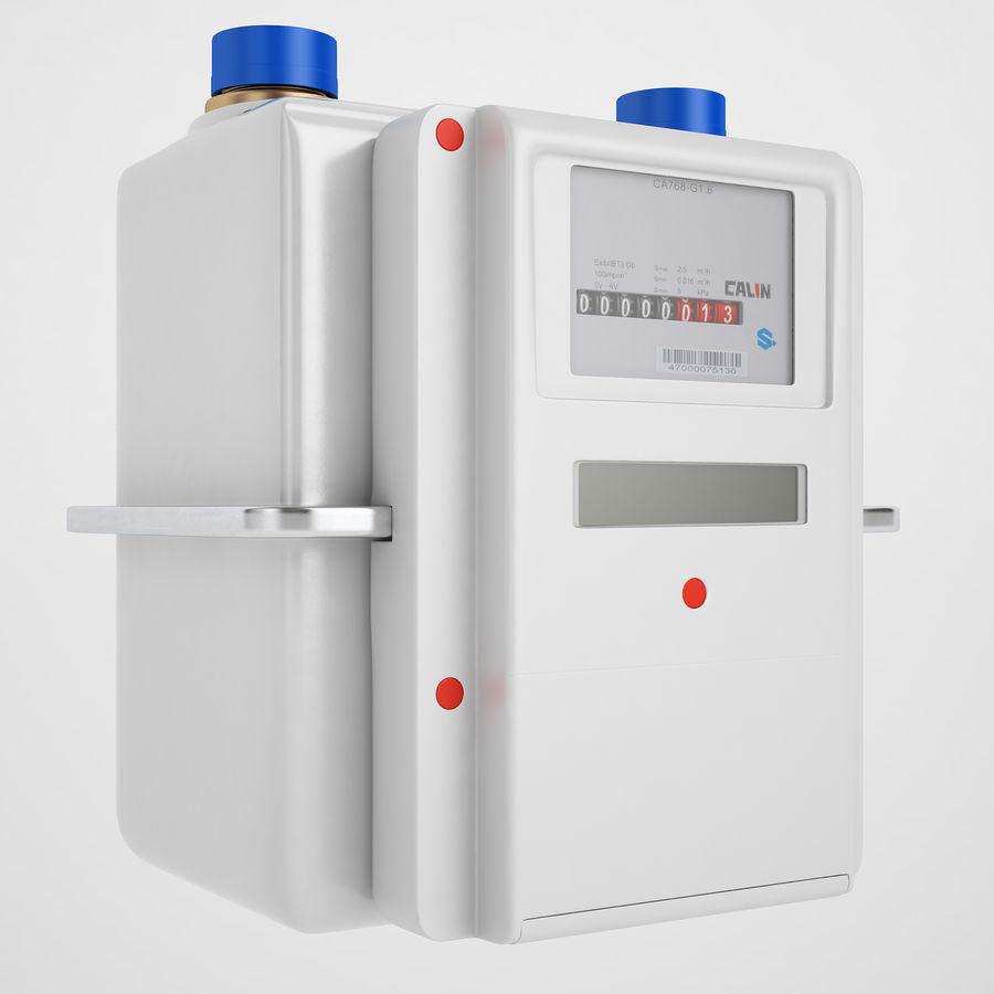Licznik przedpłaty za gaz 04 royalty-free 3d model - Preview no. 2